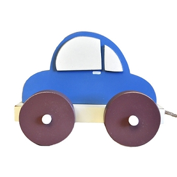 Pull Toy - Blue Car