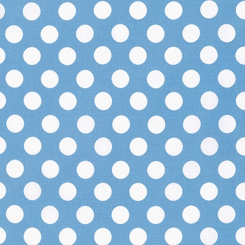 Blue Polka Dot Fabric | Big Dot in Blue by Tanya Whelan Sadie's Dance Card