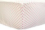 Small Pink Polka Dot Crib Sheet