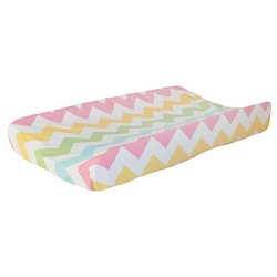 Rainbow Chevron Changing Pad Cover | Zig Zag Baby in Rainbow Crib Collection