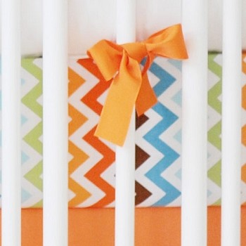 Retro Chevron Crib Sheet