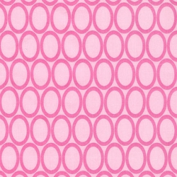 Retro Circles Pink Changing Pad Cover