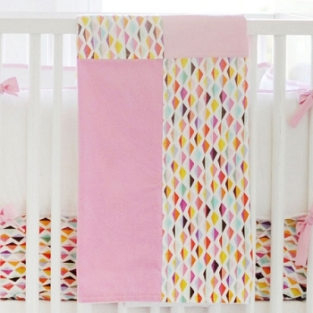 Pink Origami Crib Blanket  |  Rhapsody in Pink Crib Collection