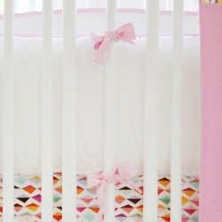 Pink & White Crib Bumper | Rhapsody in Pink Crib Collection
