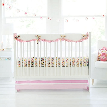 Pink and White Crib Rail Guard | Rhapsody in Pink Collection