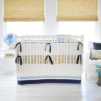 Origami Baby Bedding  |  Rhapsody in Blue Crib Collection