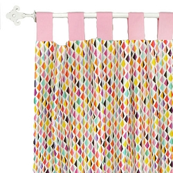 Pink Origami Curtain Panels  |   Rhapsody in Pink Crib Collection