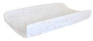 Coral Floral Changing Pad Cover | Rosemilk Crib Collection