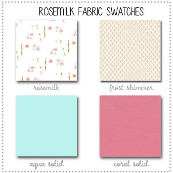 Rosemilk Crib Collection Fabric Swatches Only
