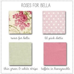 Roses for Bella Crib Collection Fabric Swatches Only