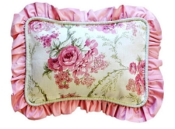 Floral Decorative Pillow | Roses for Bella Crib Collection