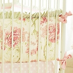 Vintage Floral Crib Bumper | Roses for Bella Crib Collection