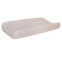 Pink Polka Dot Changing Pad Cover  |  Roses for Bella Crib Collection