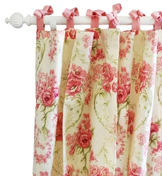 Vintage Floral Curtain Panels  |  Roses for Bella Crib Collection