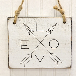 Rustic Wooden Sign - Love