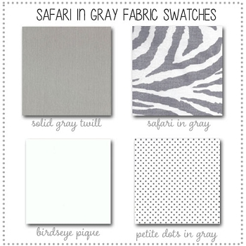 Sarfari in Gray Crib Collection Fabric Swatches Only