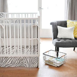 Gray Animal Print Baby Bedding  |  Safari in Gray Crib Collection