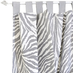 Gray Animal Print Curtain Panels  |  Safari in Gray Crib Collection