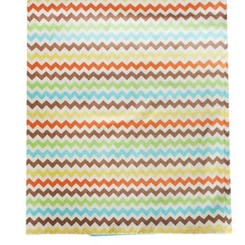 Multi Chevron Crib Skirt | Sante Fe Crib Collection
