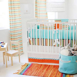 Multi Chevron Baby Bedding | Sante Fe Crib Collection