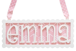 Scalloped Name Plaque - 4 Letters