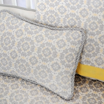 Yellow and Gray Pillow | Scarborough Fair Crib Collection