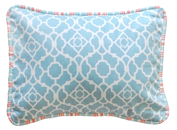 Aqua Throw Pillow | Scout Crib Collection