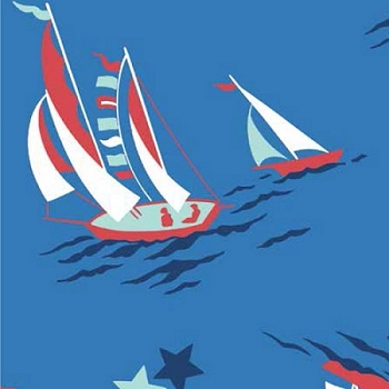 Nautical Nursery Fabric | Anna Griffin Seafarer in Blue