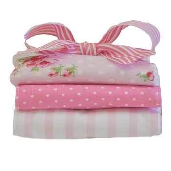 Pink Roses Burp Cloth Set