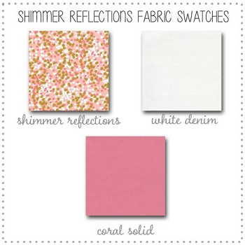 Shimmer Reflections Bedding Collection Fabric Swatches Only