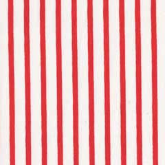 Red & White Stripe Fabric | Ship Shape Stripe