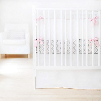 Pink and Grey Baby Bedding | Sweet & Simple Collection