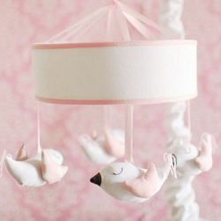 Song Bird in Pink Baby Mobile