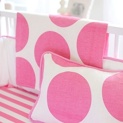 Hot Pink Polka Dot Baby Blanket | Spot on Fuchsia Crib Collection