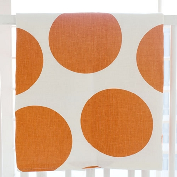 Orange Polka Dot Baby Blanket | Spot on Tangerine Crib Collection