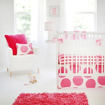 Hot Pink Nursery Set | Spot On Fuchsia Crib Collection