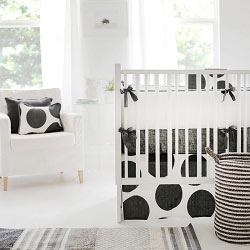 Charcoal Baby Bedding  |  Spot On Charcoal Crib Collection