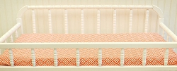 Orange Weave Changing Pad Cover  |  Spot On Tangerine Crib Collection