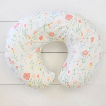 Pastel Floral Nursing Pillow Cover | Spring Floral Crib Collection