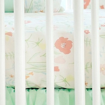Pastel Floral Crib Sheet | Spring Floral Crib Collection