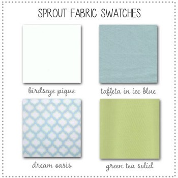 Sprout Baby Bedding Collection Fabric Swatches Only