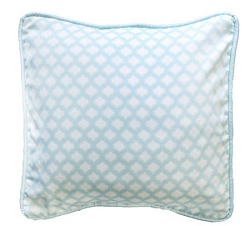 Aqua Throw Pillow | Sprout Crib Collection