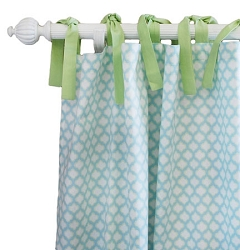 Aqua & Green Curtain Panels  |  Sprout Crib Collection