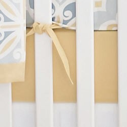 Gold Crib Sheet  |  Starburst in Gold Collection