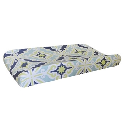 Lime Green & Navy Changing Pad Cover  |  Starburst in Kiwi Crib Collection