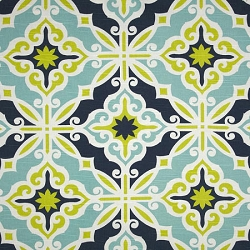 Premier Prints HARFORCA HARFORD CANAL/SLUB | Starburst in Kiwi Crib Collection