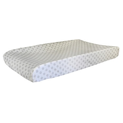 Gray Sunburst Changing Pad Cover  |  Stella Gray Crib Collection