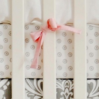 Gray Sunburst Crib Sheet | Stella Gray Crib Collection