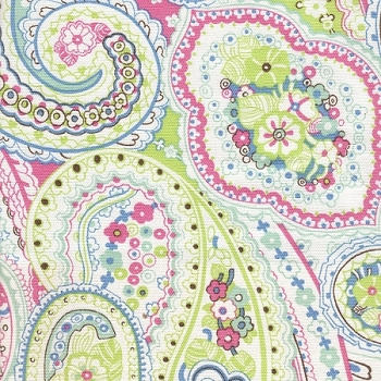 Pink & Blue Paisley Changing Pad Cover