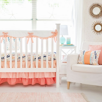 Peach Nursery Rail Guard Set |  Summer Grove II Collection
